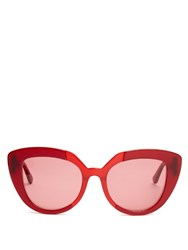 Marni Prisma Cat Eye Sunglasses Pink Multi