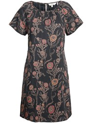 Fat Face Annie Trailing Poppies Dress Black
