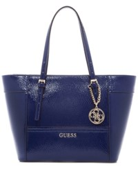 Guess Delaney Small Classic Tote Sapphire