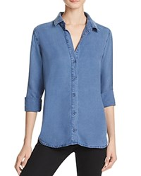 Bella Dahl Side Laced Denim Shirt Deep Ocean