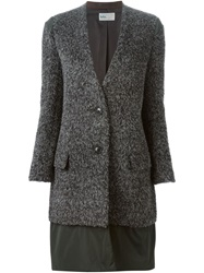 Kolor Contrasted Hem Coat Grey