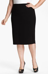 Plus Size Women's Vince Camuto Midi Tube Skirt Black