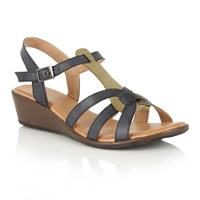 Lotus Kassos Ii T Bar Sandals Navy