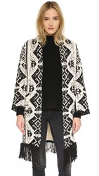 Glamorous Blanket Cardigan Cream Black