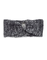 Wooden Ships Marled Wool Blend Knit Bow Headband Blue