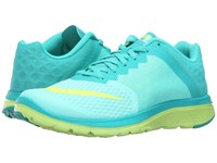 Nike Fs Lite Run 3 Hyper Turquoise Volt Clear Jade White Women's Running Shoes Blue