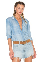 Bella Dahl Hipster Shirt Blue