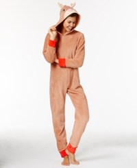 Pj Couture Character Hooded Jumpsuit Taupe