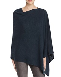 Eileen Fisher Asymmetric Merino Wool Poncho Fir