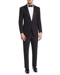 Ralph Lauren Anthony Peak Lapel One Button Wool Tuxedo Black Women's