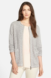 Eileen Fisher Organic Cotton Terry Zip Front Jacket Regular And Petite Ash