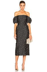 Brock Collection Ditsy Dress In Gray Floral Gray Floral