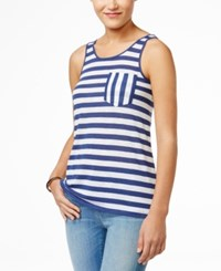 G.H. Bass And Co. Striped Tank Top Heather True Navy Combo
