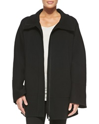 Donna Karan Cashmere Coat W Hidden Zipper