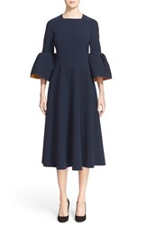 Roksanda Ilincic Women's Roksanda 'Turlin' Flounce Sleeve Midi Dress