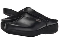 Softwalk Edge Pro Black Action Leather Women's Clog Shoes
