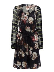 Preen Sybil Dress With Belt Black