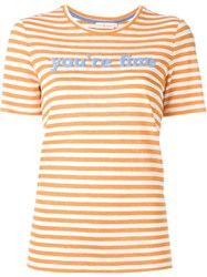 Tory Burch Striped T Shirt Yellow And Orange