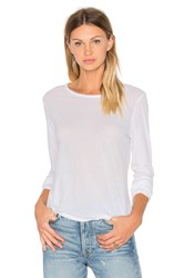 James Perse Long Sleeve Crew Neck Tee White