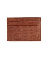 Shinola Crocodile Card Holder Black Bourbon
