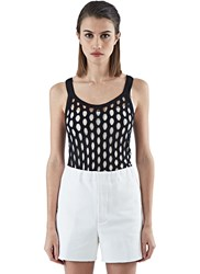 Marni Laser Cut Vest Top Black