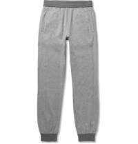 Brioni Tapered Elange Stretch Cotton Jersey Sweatpants Gray