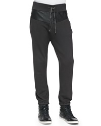 Prps Leather Panel Sweatpants