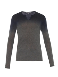 John Varvatos Degrade Cashmere Long Sleeved Top
