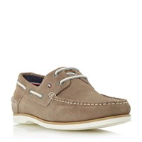 Tommy Hilfiger Deck 5B White Sole Suede Boat Shoes Taupe