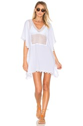 Seafolly Lace Insert Caftan White