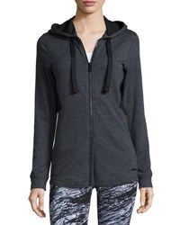 Marc New York Mesh Panel Performance Hoodie Charcoal H