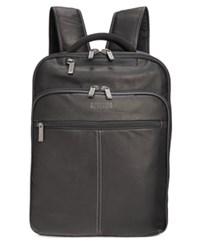Kenneth Cole Reaction Men's Colombian Leather Computer Backpack Black