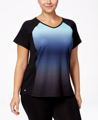 Ideology Plus Size Dip Dyed T Shirt Only At Macy's Crystal Mist