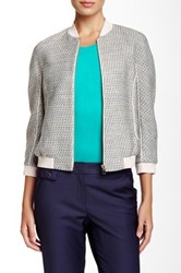 Ted Baker Talitha Tweed Bomber Jacket Blue