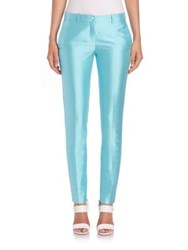 Michael Kors Sam Silk And Wool Skinny Pants
