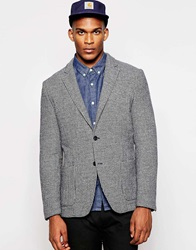 United Colors Of Benetton Dogtooth Blazer In Regular Fit Navy