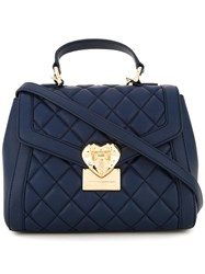 Love Moschino Quilted Shoulder Bag Blue