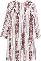 Zimmermann Ryker Embroidered Cotton Muslin Hooded Dress