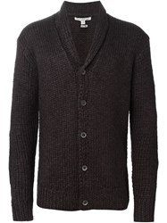 John Varvatos Shawl Collar Cardigan Red