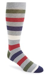 Men's Ted Baker London 'Onestre' Stripe Socks Grey