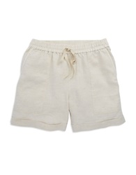 Lord And Taylor Drawstring Shorts Natural