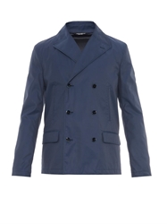 Dolce And Gabbana Lightweight Double Breasted Pea Coat
