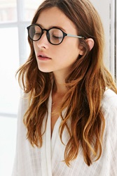 Urban Outfitters Petite Round Readers Black