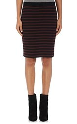 Atm Anthony Thomas Melillo Women's Striped Rib Knit Skirt Red Black Gold Red Black Gold