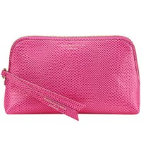Aspinal Of London Essential Lizard Embossed Leather Cosmetic Case Pink