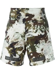 Off White Camouflage Track Shorts Multicolour