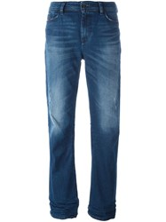 Diesel Distressed Regular Jeans Blue