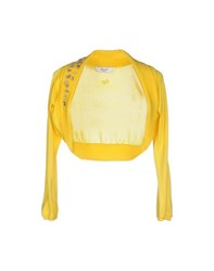Blugirl Blumarine Topwear Shrugs Women Yellow