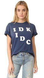 Wildfox Couture Idk Idc Tee After Midnight Blue
