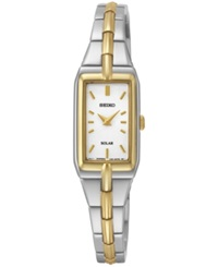 Seiko Women's Solar Two Tone Stainless Steel Bracelet Watch 15Mm Sup272